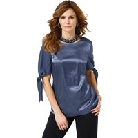 Fair Lady Damen Bluse blau Gr. 42