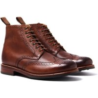 Grenson Sharp Tan Brogue Boots