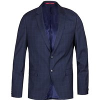 HUGO Arti 183 Check Navy Extra Slim Fit Suit Jacket