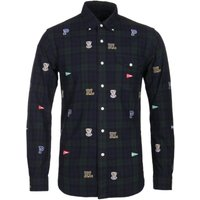 Polo-Ralph-Lauren-Slim-Fit-Varsity-Patch-Black-Watch-Shirt
