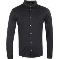 Emporio Armani Black Mercerised Cotton Shirt