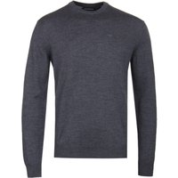 Emporio Armani Grey Virgin Wool Knit Sweater