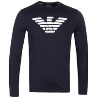 Emporio Armani Navy Long Sleeve Big Eagle T-Shirt
