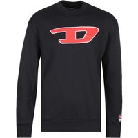 Diesel Large Chest Logo Black Sweatshirt