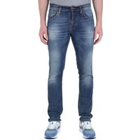 Nudie Jeans Co Grim Tim Blue Wash Denim Jeans