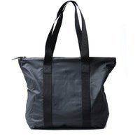 Rains Black Rush Tote Bag
