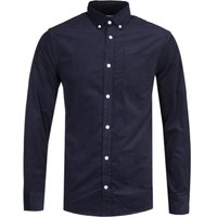 NN07 5723 Levon Corduroy Dark Navy Long Sleeve Shirt