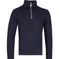 NN07 6336 Holger Quarter-Zip Navy Knitted Sweater