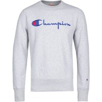 Champion Big Script Grey Marl Crew Neck Sweatshirt