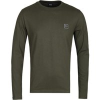 BOSS Tacks Forest Green Long Sleeve T-Shirt