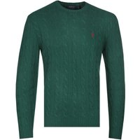 Polo Ralph Lauren Cable Knit Forest Green Cashmere Sweater