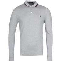 Polo Ralph Lauren Long Sleeve Slim Fit Grey Marl Polo Shirt