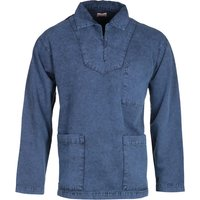 Armor Lux Double Pocket Denim Blue Smock
