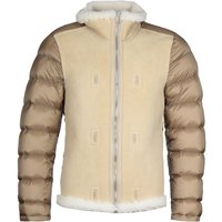 Ten C Stand Up Collar Beige Shearling Jacket Liner
