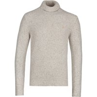 Farah Batten Ecru Roll Neck Knit Sweater