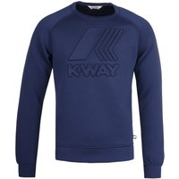 K-Way Augustine Spacer Logo Navy Sweatshirt