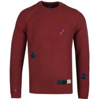 PS Paul Smith Ribbed Patch Clay Brown Knit Sweater