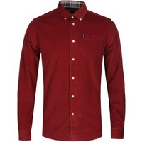 Barbour Seth Tailored Fit Red Cord Shirt