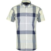 Barbour Croft Short Sleeve Tailored Fit Yellow & Grey Check Shirt