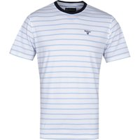 Barbour Portree Sky Blue & White Striped T-Shirt