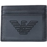 Emporio Armani Big Eagle Embossed Black Card Holder