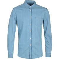Portuguese Flannel Denim Blue Shirt