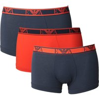 Emporio Armani Loungewear Red & Navy 3 Pack Boxer Shorts