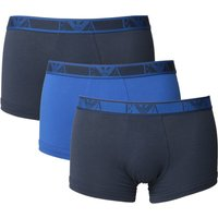 Emporio Armani Loungewear Navy & Blue 3 Pack Boxer Shorts