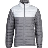 Columbia Powder Lite Contrast Grey Hooded Jacket