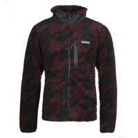 Columbia-Winter-Pass-Black-and-Burgundy-Sherpa-Fleece