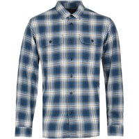 Filson Scout Blue, Gold & White Plaid Shirt