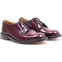 Tricker's Bookbinder Burgundy Leather Derby Shoes