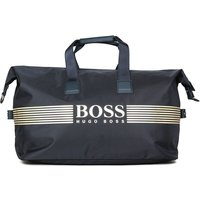 Boss Pixel Logo Holdall Navy Bag