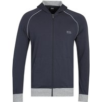 BOSS Bodywear Mix & Match Navy & Grey Detail Zip-Through Hoodie