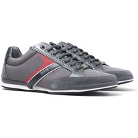 BOSS Saturn Lowp Grey Mesh Trainers