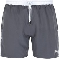 BOSS Bodywear Starfish Contrast Waistband Grey Swim Shorts