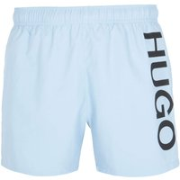 HUGO Abas Large Logo Light Blue Swim Shorts