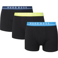 BOSS Bodywear Three Pack Regular Rise Black Boxer Trunks