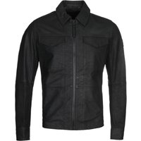 BOSS Jobean Black Leather Overshirt