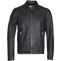 BOSS Nokuri Leather Bomber Black Jacket