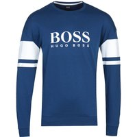 BOSS Authentic Block Stripe Deep Blue Sweatshirt
