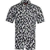 HUGO Ekilio Patterned Black Fantasy Shirt