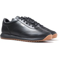 Boss Sonic Run Leather Black Trainers