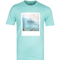 Boss Tsummer 4 Printed Turquoise T-Shirt