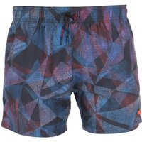 HUGO Naxos Geometric Dark Blue Swim Shorts