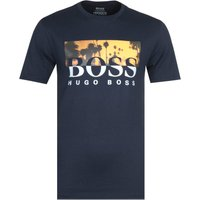 BOSS Tsummer 6 Large Logo Navy T-Shirt