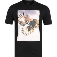 BOSS Tomio Eagle Print Black T-Shirt
