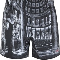 Boss Moa Museum Print Grey Swim Shorts