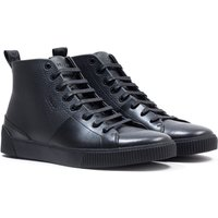 HUGO Zero Hi Top Black Trainers