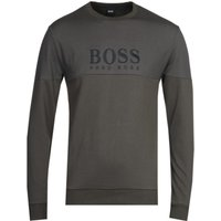 BOSS Bodywear Panel Logo Grey Tracksuit Sweatshirt